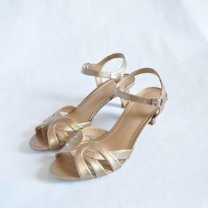 Naturalizer N5 Comfort Nude Heeled Sandal